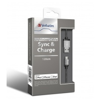 Verbatim Metallic Charge & Sync Lightning Cable1.2m