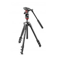 Manfrotto Befree live fluid head with Befree aluminum tripod system (MVKBFR-LIVE)