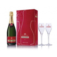 Piper Heidsieck Brut Set With Pair of Glass