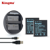 KINGMA FOR OLYMPUS BLH-1 Two Battery + USB Dual Charger