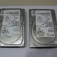 IBM 36GB USCSI 10K RPM hard disk x2