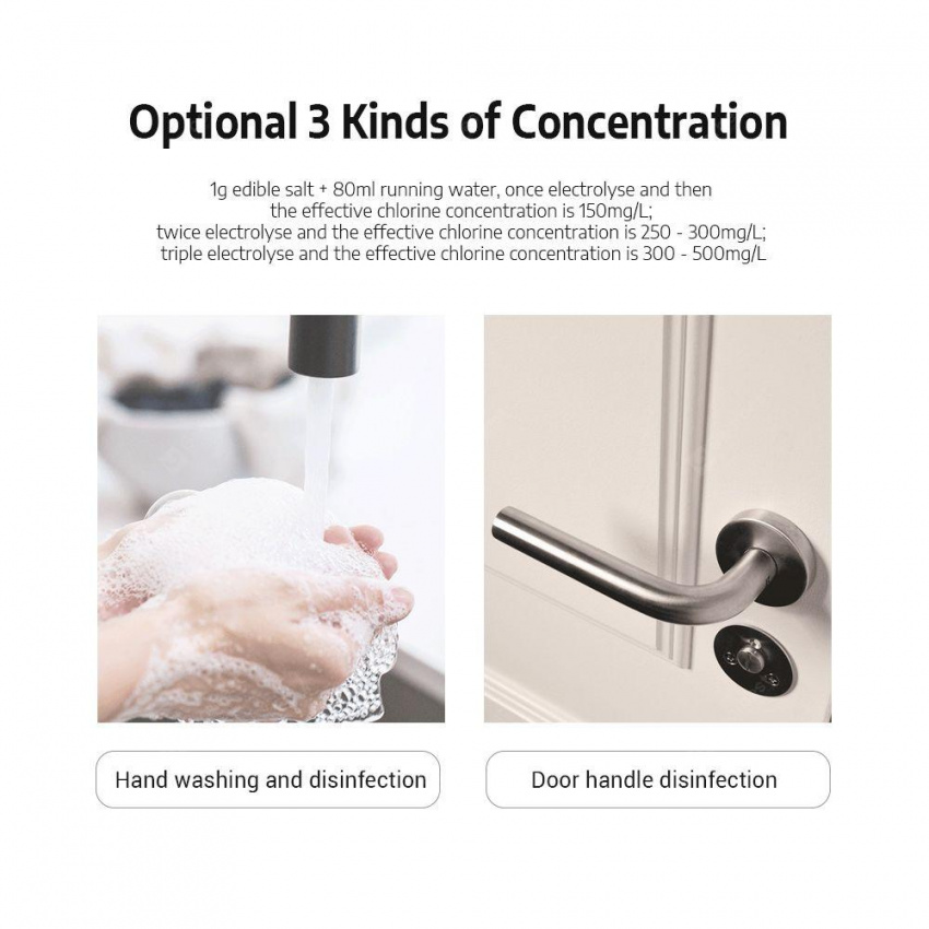 Qualitell ZS8001 80ml Sodium Hypochlorite Disinfectant Liquid Generator 3min Electrolysis from Xiaomi Youpin