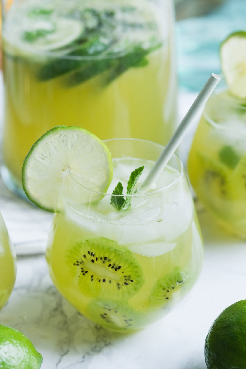 Say Yes to Summer with this Kiwi Lime Mint Sangria Recipe - The ...