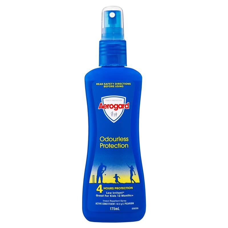 澳洲Aerogard Odourless Protection 防蚊水噴霧驅蚊液 175ml