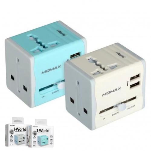 MOMAX UA4 1-World 2.1A 2USB旅行充電插座 [2色]