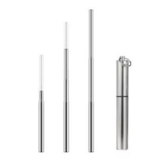 不銹鋼伸縮吸管連刷及鋁筒