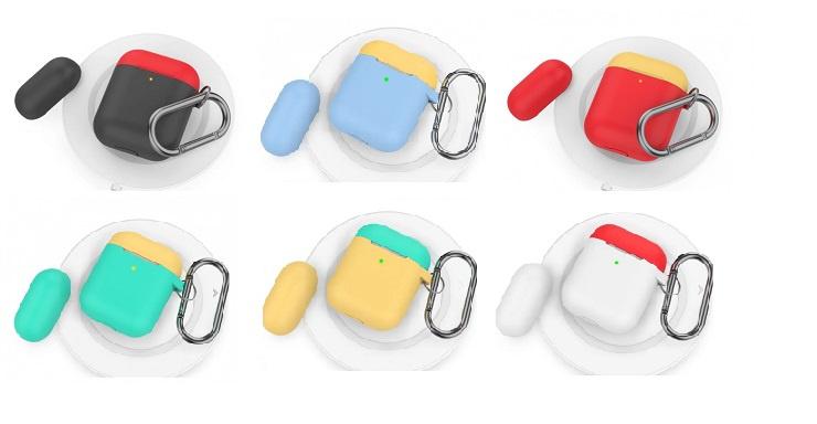 AhaStyle - AirPods PODFIT 第3代升級加強版撞色掛勾矽膠保護套 [6色]