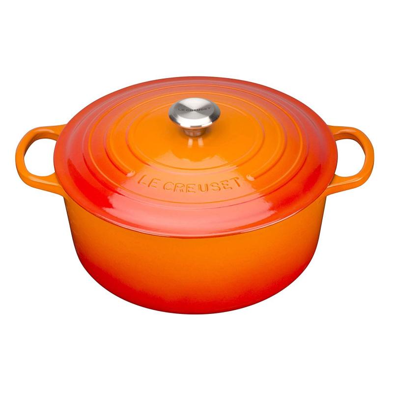 Le Creuset 圓形鑄鐵鍋 [橙色] [2尺寸]
