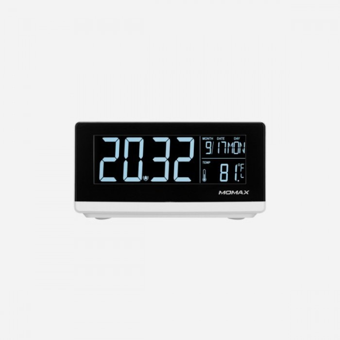 MOMAX Q.Clock 無線充電 電子鬧鐘 [白色] (QC1UKW)