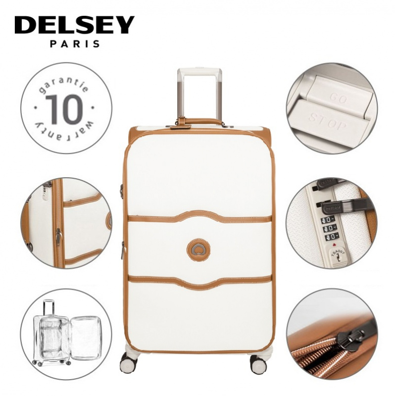Delsey Chatelet Soft 可擴張旅行喼 [白色] [3尺寸]