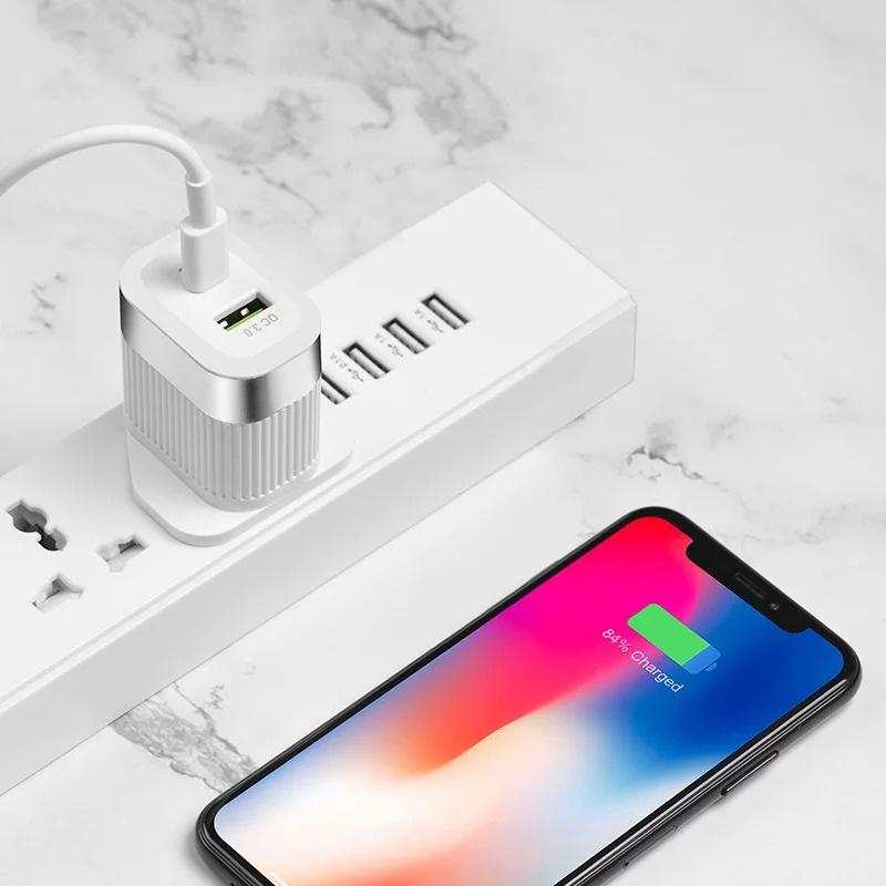 Hoco PD + QC 3.0 + Apple Lightning to USB-C 快速充電套裝