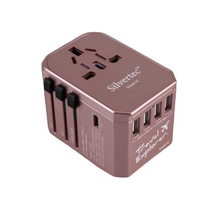 Silvertec TE505 4 USB +Type C 旅行轉插器 [隨機顏色]