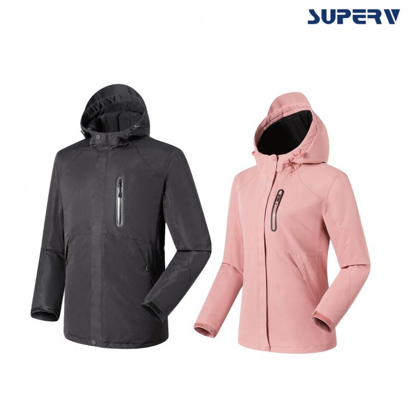SuperV 智能發熱跣水防風外套 [2色][4尺寸]