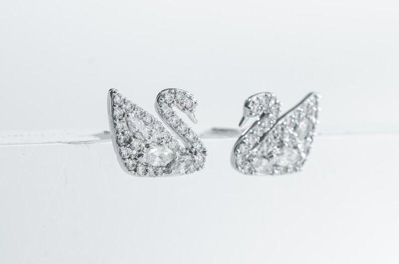 Swarovski Swan Lake 穿孔耳環 (5177581)