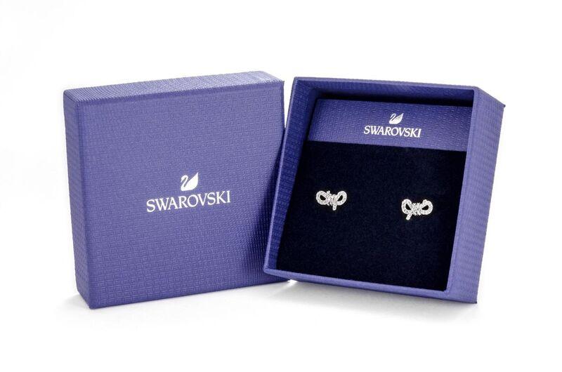 Swarovski Lifelong Bow 穿孔耳環 (5447080)
