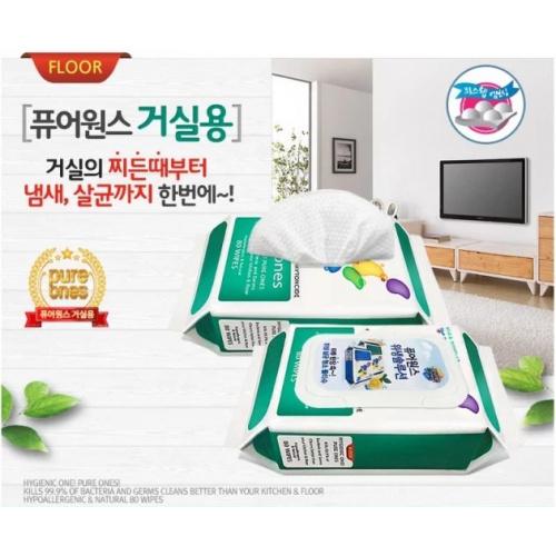 韓國製Pure Ones 殺菌99.9%多用途清潔濕紙巾 (家庭裝80片)