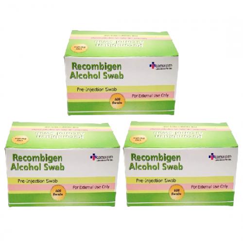 Recombigen 消毒酒精棉片(3盒/6盒/10盒) [100片/盒]