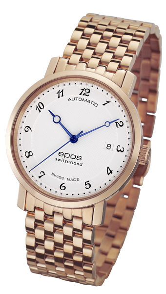 EPOS Originale 系列 男裝自動機械手錶(阿拉伯數字) [2色] 3387-S/S-RG-WHT/ARAB & 3387-S/S-WHT/ARAB