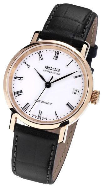 EPOS Ladies 4387/F-RG-WHT/BLK & 4387/F-WHT/BLK [2色] 女裝自動機械手錶(皮帶)
