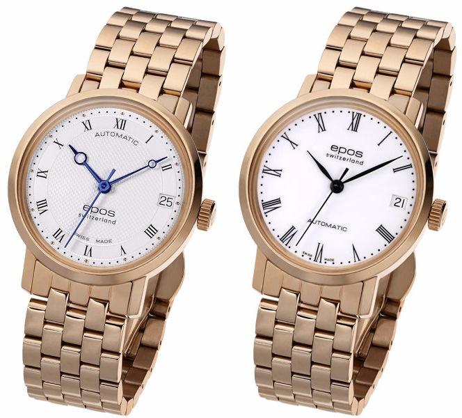 EPOS Ladies 4387-S/S-RG-WHT/BLK & 4387-S/S-RG-WHT/BLU [2款] 女裝手動機械手錶(不鏽鋼)