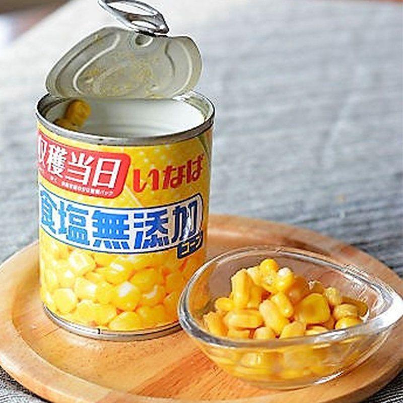 日本 Inaba【無添加鹽糖】超甜天然粟米粒 (收穫當日新鮮即製) 200g x 3罐【市集世界 - 日本市集】