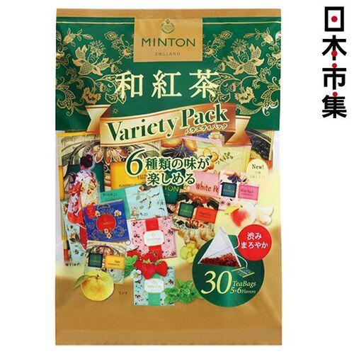 日版 MINTON 6款 各5包 和紅茶 三角茶包 (30包) 65g【市集世界 - 日本市集】