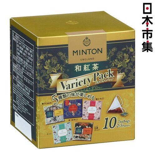 日版 MINTON 5款混合 和紅茶 三角茶包 (共10包) 22g【市集世界 - 日本市集】