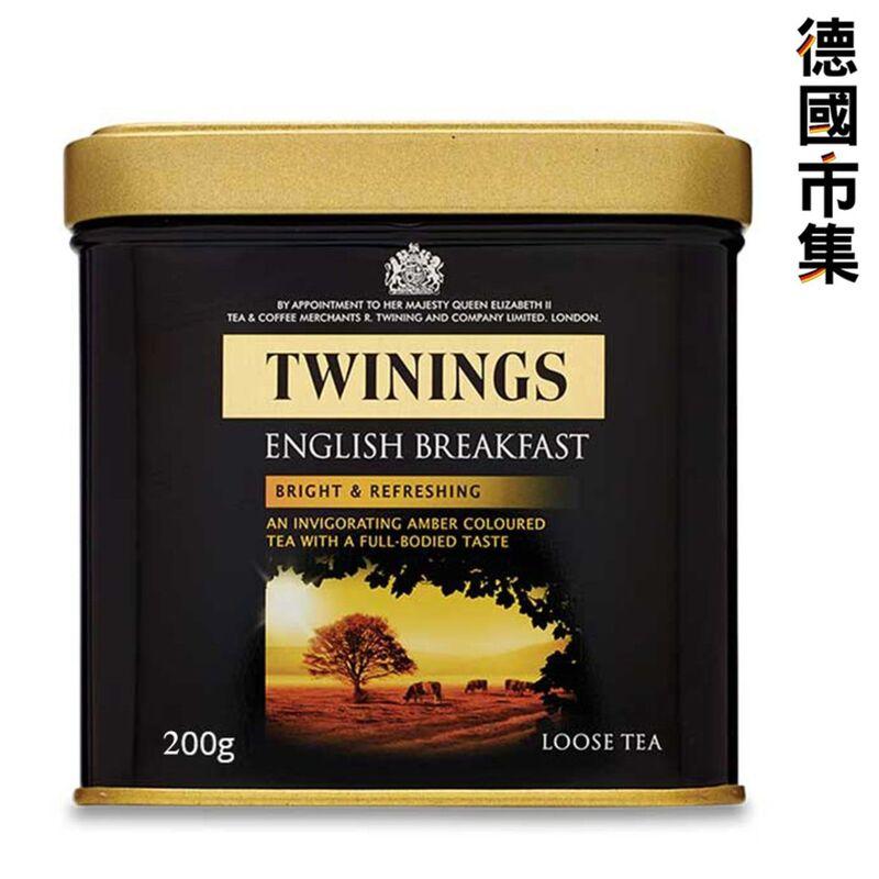 Twinings 川寧 2倍增量 英國特別版 英式早餐紅茶 頂級茶葉 200g【市集世界 - 德國市集】