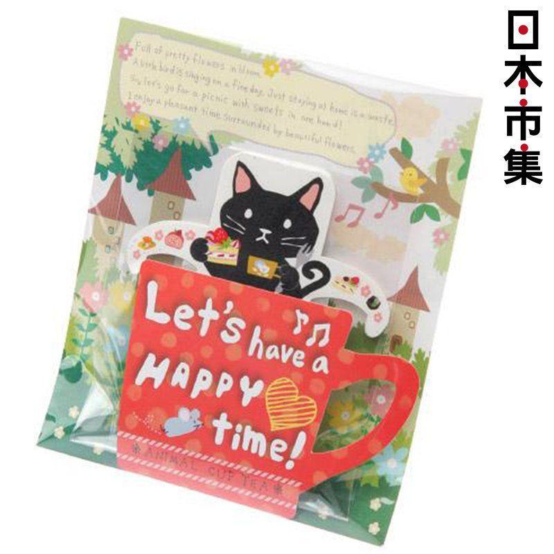 日版 貓形圖案掛杯式茶包蘋果紅茶 3包 7.5g【市集世界 - 日本市集】