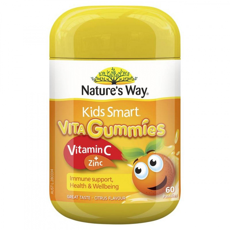 Nature's Way 佳思敏 Kids Smart兒童維生素C+鋅軟糖 [60粒]