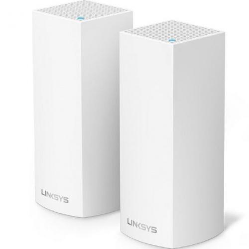 Linksys 三頻 Velop Mesh WiFi 系統 路由器 [2件裝] [AC4400] [WHW0302-AH] (送Belkin4位防雷保護器拖板)