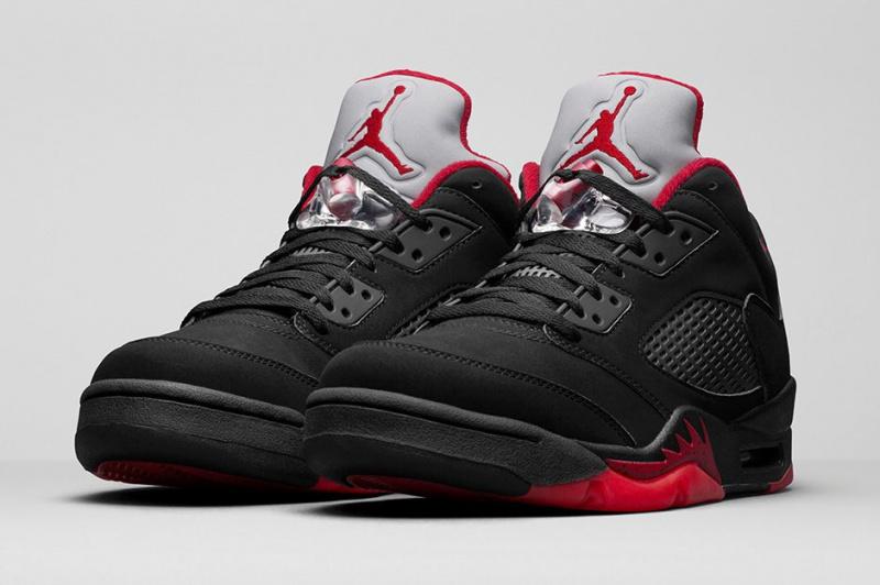 Nike Air Jordan 5 Low GS 女裝鞋 [黑紅色]