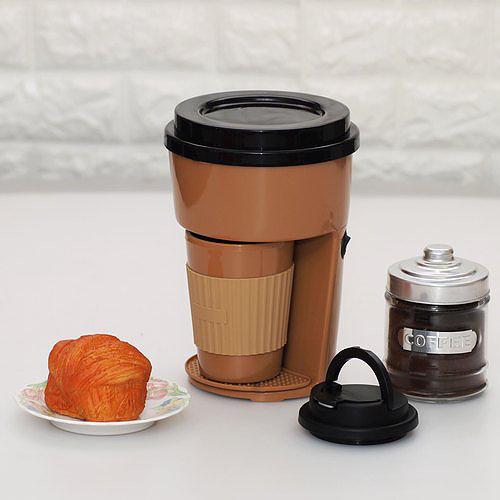 單杯自動滴濾式咖啡機連咖啡杯 + 自家制新鮮烘焙咖啡豆 100g [4色]