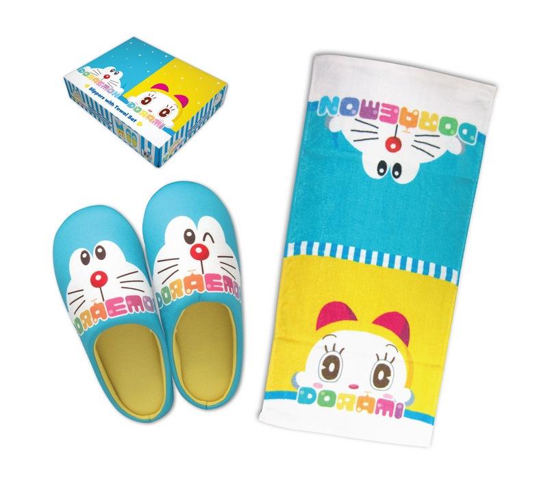 Disney迪士尼/多啦A夢/Minions卡通拖鞋+毛巾套裝 [7款]