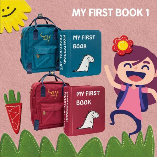 elf - 兒童啓蒙布書 My first book 蒙特梭利教學 兒童布書+書包