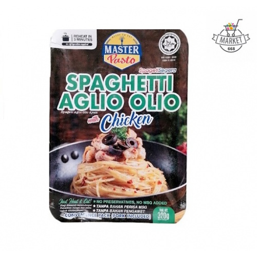 Master Pasta 蒜油雞肉白汁意粉