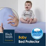 Black Smith 嬰兒防水床褥保護笠 [藍色]