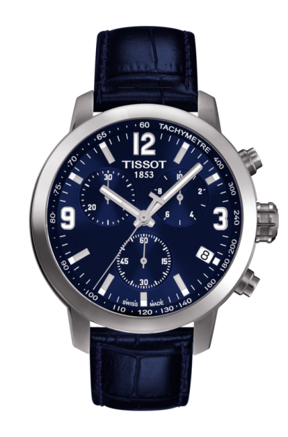 Tissot PRC 200 Chronograph 男裝皮帶手錶 [2色][