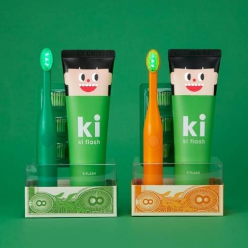 韓國 E:FLASH Me Flash LED 8億潔牙套裝 (KI SET-防蛀牙)(送便攜漱口水1盒+沐印消毒噴霧1件)