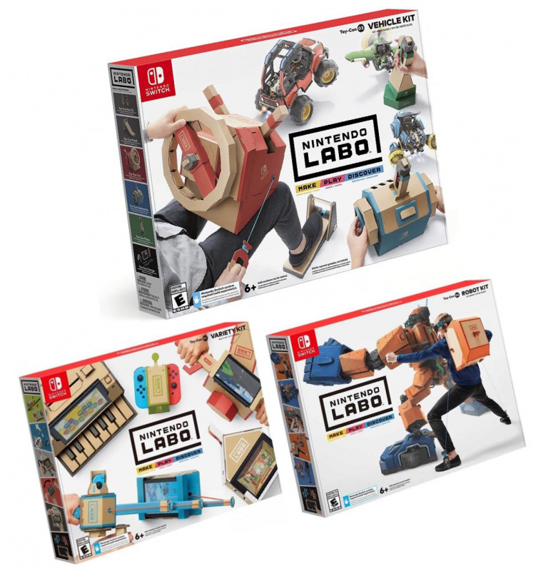 Nintendo Switch Labo Toy-Con 01+02+03套裝[日英中文版]