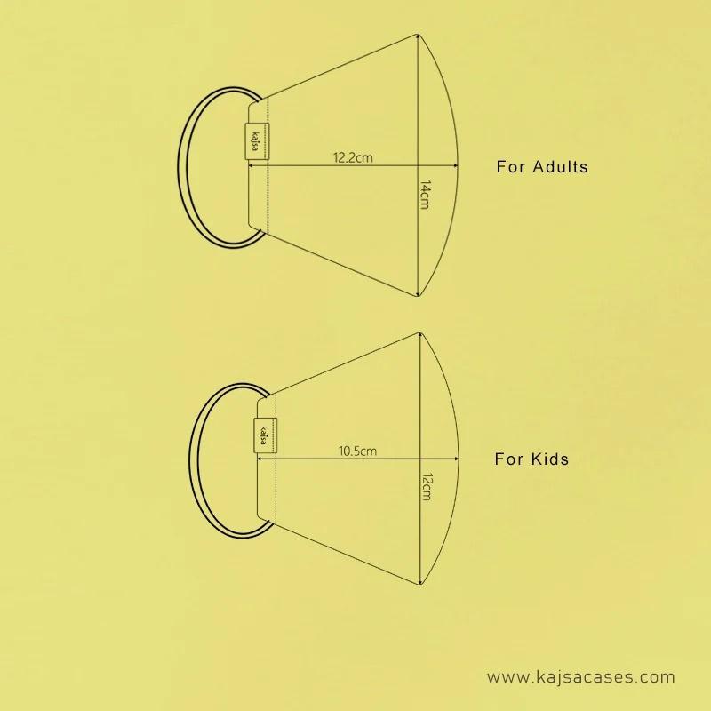 kajsa 銀離子布可重用口罩[成人/小童][6色]
