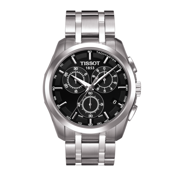 Tissot T-Trend Couturier Chronograph 男裝鋼帶手錶 [2色]
