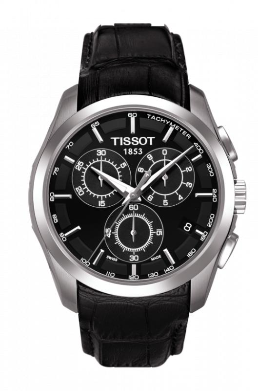 Tissot Couturier Chronograph 男裝皮帶手錶 [2色] [送DW手鐲]
