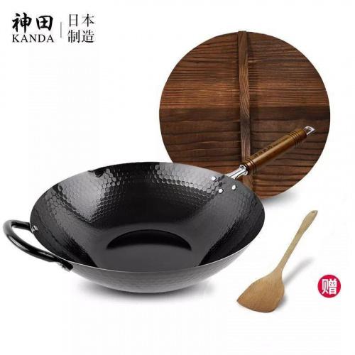 Kanda IH 對應槌目紋無塗層鐵炒鍋 [30cm/33cm]