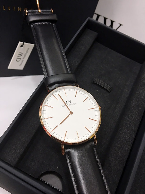 Daniel Wellington Classic Sheffield 男士皮帶手錶禮盒套裝 40mm
