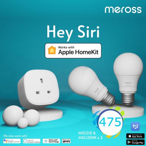 Meross Apple HomeKit Combo 限定優惠套裝 (E27 智能燈泡 / 智能定時插頭) [可單獨發售]