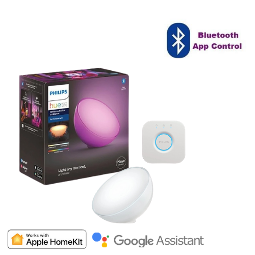 Philips White and Color Ambiance Hue Go Bluetooth 可攜式燈具套裝
