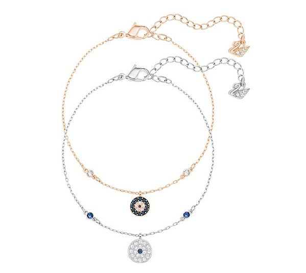 Swarovski Crystal Wishes Evil Eye 混搭多種鍍層手鏈 (5272256)
