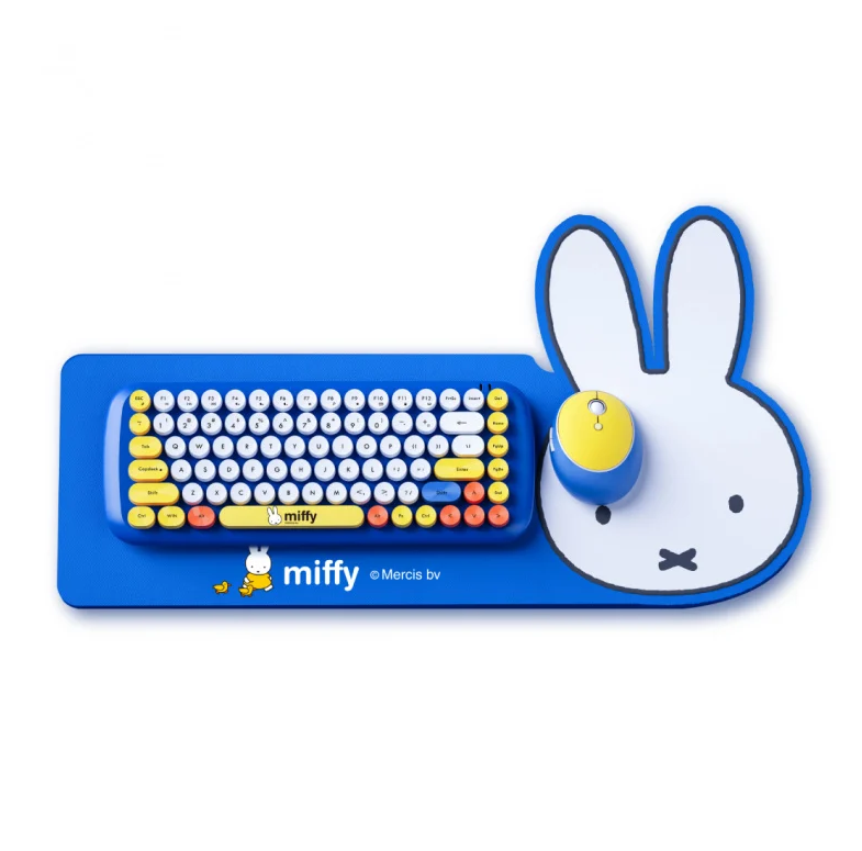 Miffy MPC-001無線鍵盤滑鼠套裝 送 M-Plus 智能感應泡沫洗手機乙個 [2色]