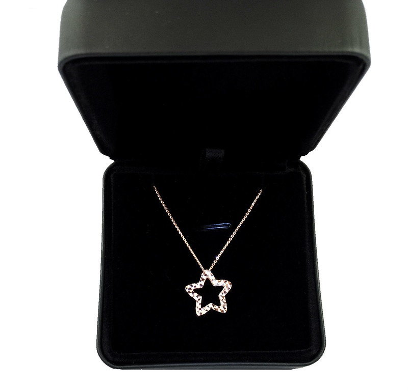 MJ Diamond《意大利金錬》- 系列 18K Shiny Star 閃鑠恆星 意大利鏈墜套裝